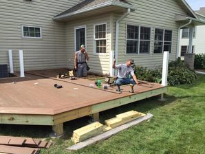 Brand New Deck Built in Whitewater, WI (1)